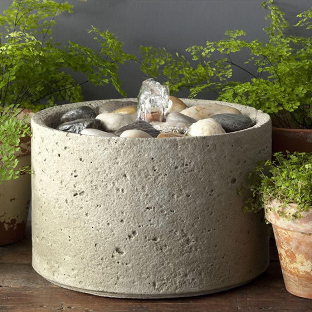 M-Series Pebble Garden Terrace Fountain - Soothing Company