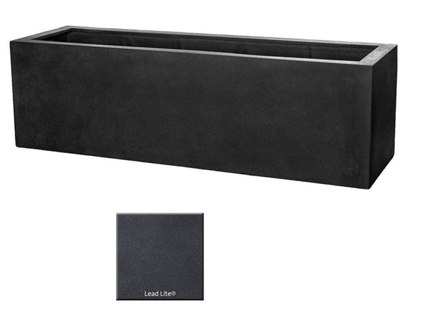 ML 5918 Rectangle Planter Container In Lead Lite® - Soothing Company