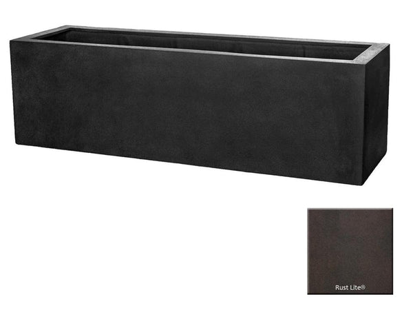 ML 5918 Rectangle Planter Container In Rust Lite® - Soothing Company