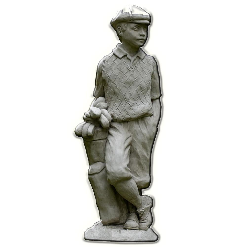 Male Golfer Cast Stone Garden Statue - Soothing Company