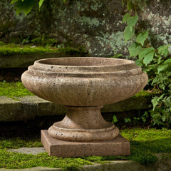 Marella Urn Garden Planter in Aged Limestone - Soothing Company