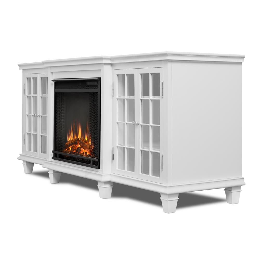 Marlowe Electric Fireplace in White - Soothing Company