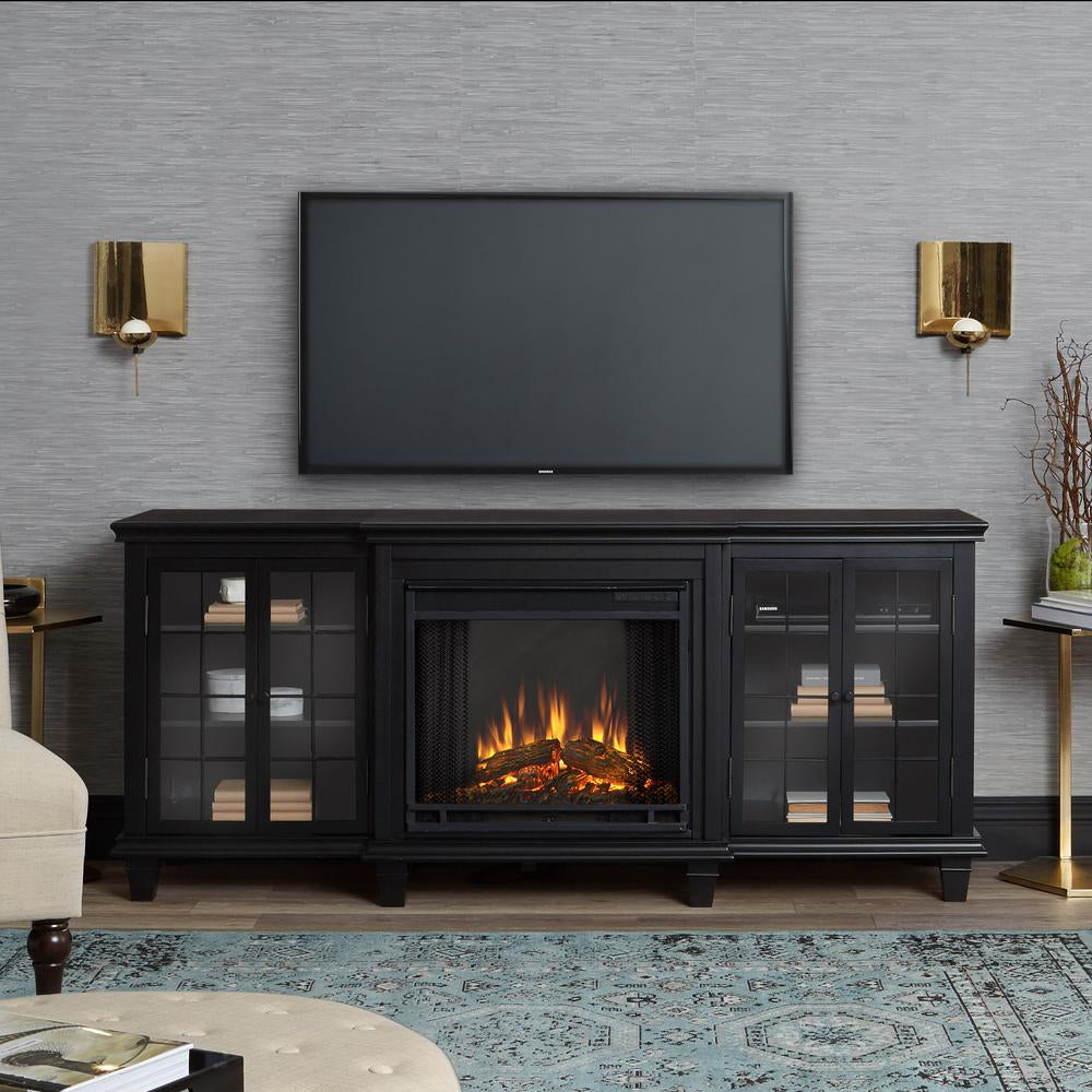 Marlowe Electric Fireplace in Black Finish - Soothing Company