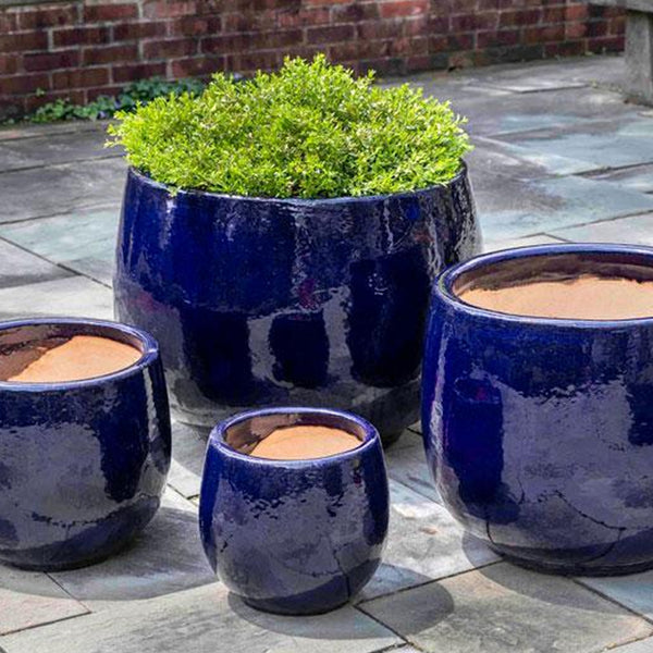 Martine Planter - Set of 4 in Sapphire - Soothing Company