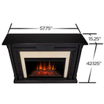 Maxwell Grand Electric Fireplace in Blackwash - Soothing Company