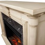 Maxwell Grand Electric Fireplace in Whitewash - Soothing Company