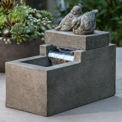 Mini Element With Birds Garden Terrace Fountain - Soothing Company