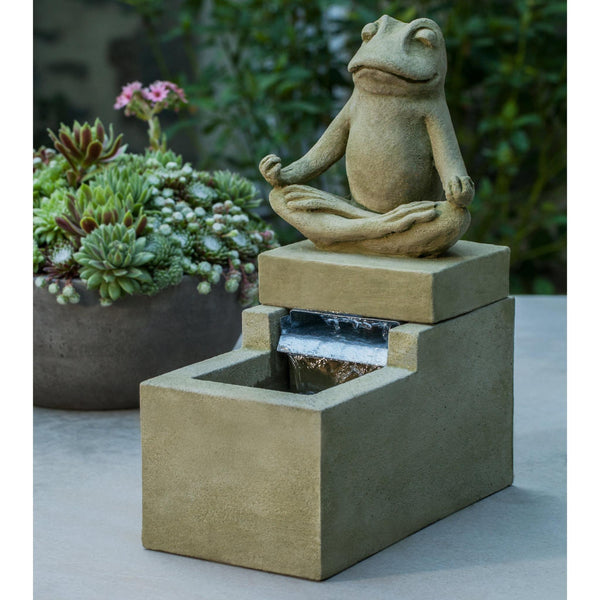Mini Element Zen Frog Garden Terrace Fountain - Soothing Company