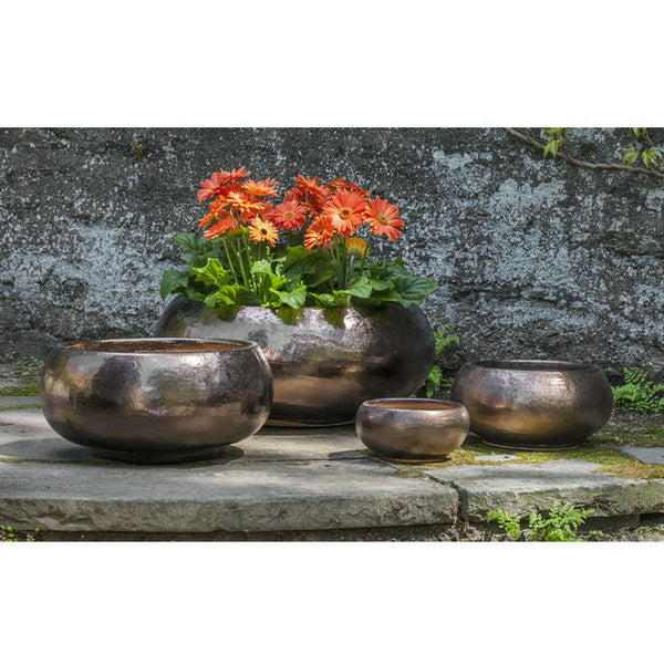 Misha Planter Set of 4 in Bronze Dore Glaze - Soothing Company
