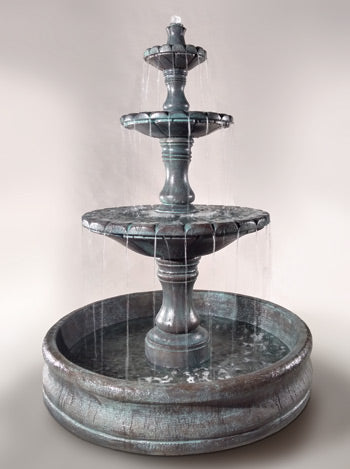 "Monaco Three Tier Fountain with 55"" Basin - Soothing Company"