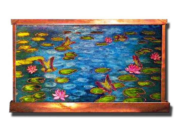 Monet's Water Lilies Wall Fountain - Soothing Company