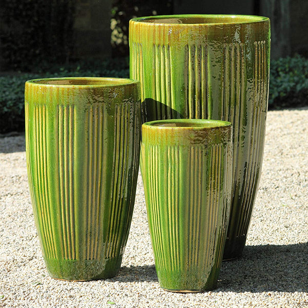 Montane Planter Set of 3 in Highland Moss Glaze -Soothing Company