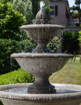 Monteros Tiered Outdoor Water Fountain - Soothing Company