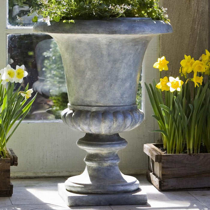 Morganna Urn Lite® Planter in Lead - Soothing Company