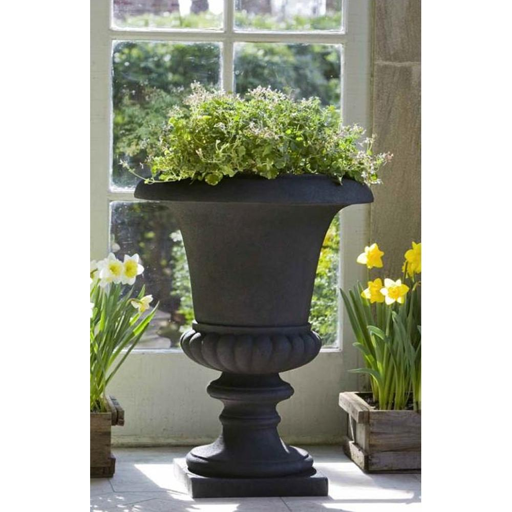 Morganna Urn Lite® Planter in Onyx Black - Soothing Company