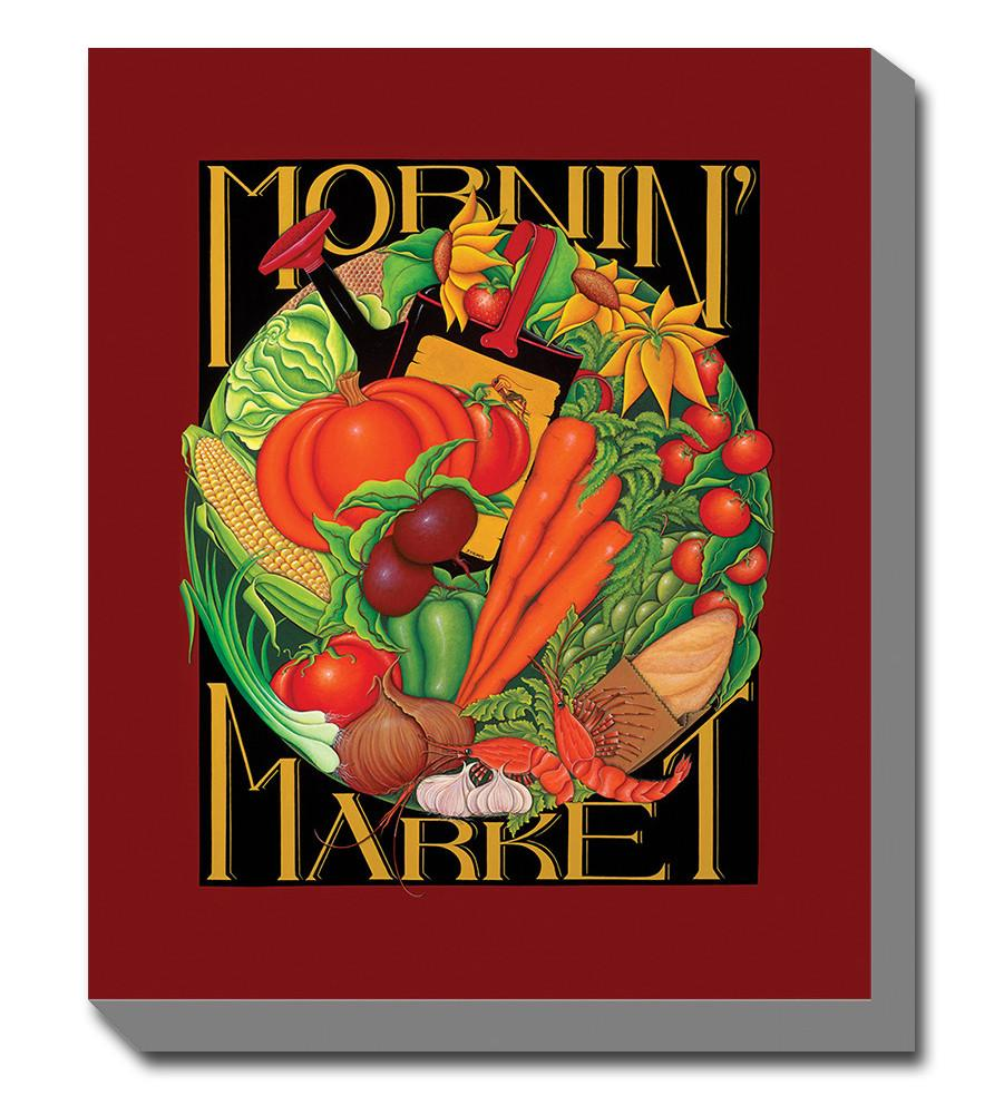 Mornin Market Outdoor Canvas Art