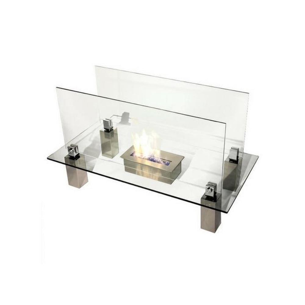 Fiero Freestanding Ethanol Fireplace - Soothing Company