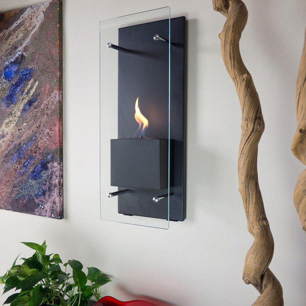Cannello Wall Mount Ethanol Fireplace - Soothing Company
