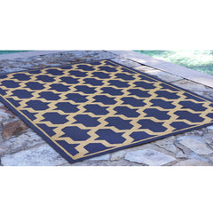 Liora Manne Napoli Global Geo Marine Area Rug - Soothing Company