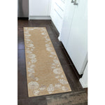 Liora Manne Capri Seashell Border Natural Area Rug - Soothing Company