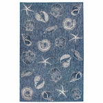 Liora Manne Carmel Shells Navy Area Rug - Soothing Company