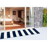 Liora Manne Sorrento Rugby Stripe Navy Area Rug - Soothing Company