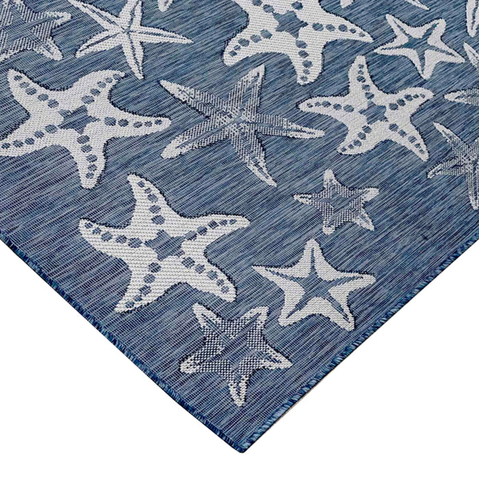 Liora Manne Carmel Starfish Navy Area Rug - Soothing Company