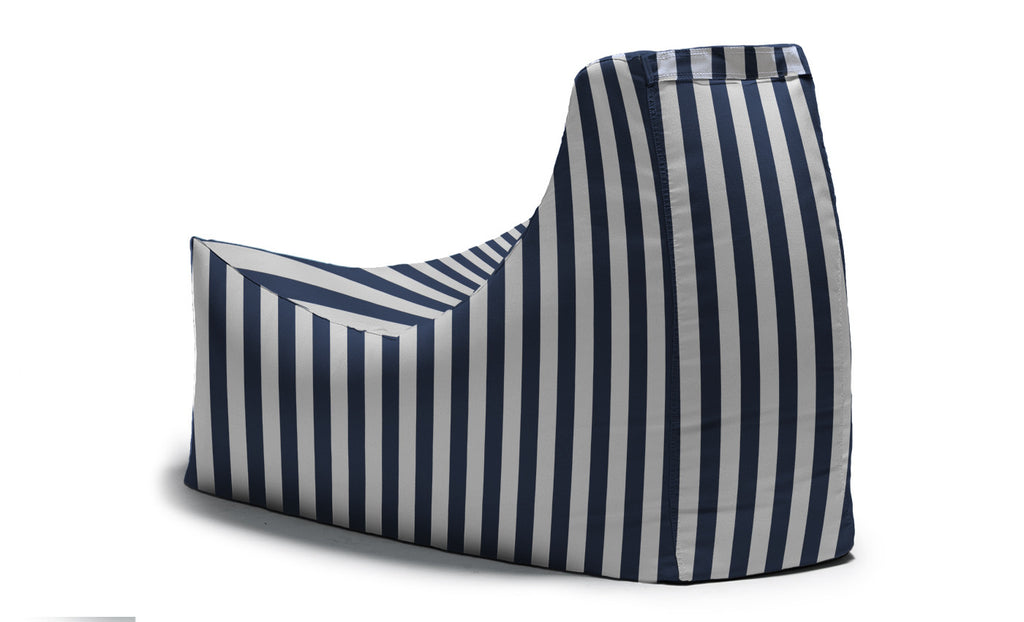 Juniper Outdoor Bean Bag Chair Navy Stripe - Soothing Company