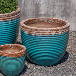 Nevis Planter - Set of 4 in Beachcomber Aqua- Soothing Company