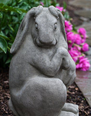 Newport Rabbit Facing Right Cast Stone Garden Statue - Soothing Company