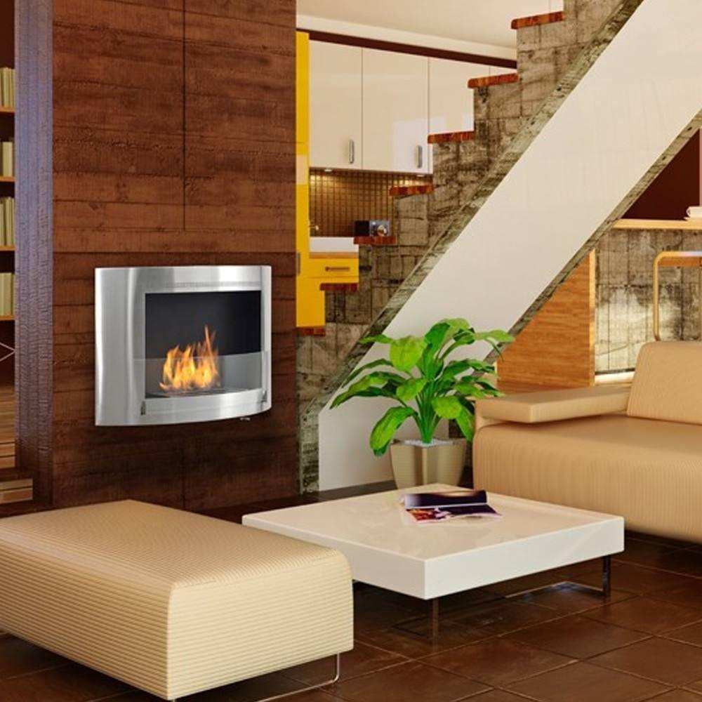 Eco-Feu Olympia Wall Mounted Biofuel Fireplace - Soothing Company