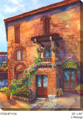 L'Albergo Outdoor Canvas Art - Soothing Company