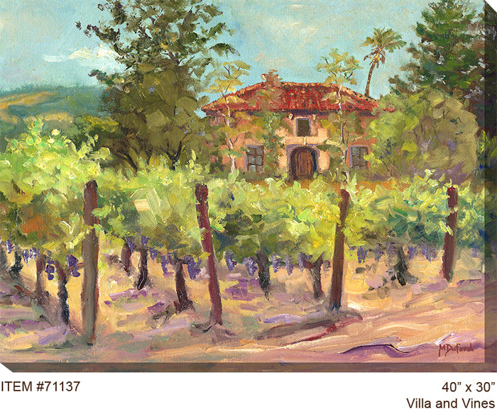 Villa and Vines Outdoor Canvas Art - Soothing Company