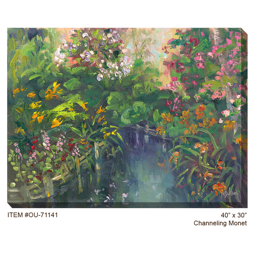 Channeling Monet Outdoor Canvas Art - Soothing Company