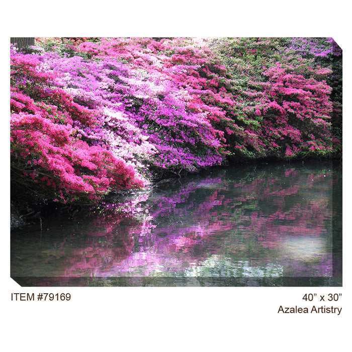 Azalea Artistry Outdoor Canvas Art - Soothing Company