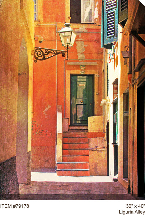 Liguria Alley Outdoor Canvas Art - Soothing Company