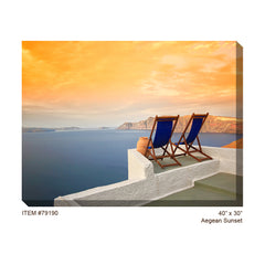 Aegean Sunset Outdoor Canvas Art - Soothing Company