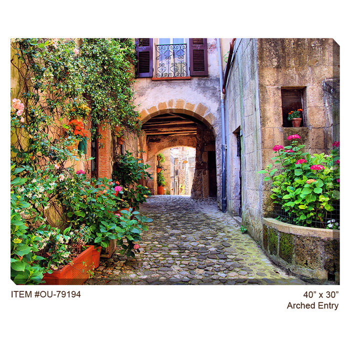 Arched Entry Outdoor Canvas Art - Soothing Company
