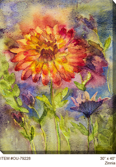 Zinnia Outdoor Canvas Art - Soothing Company