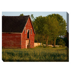 Big Red Barn Outdoor Canvas Art - Soothing Company