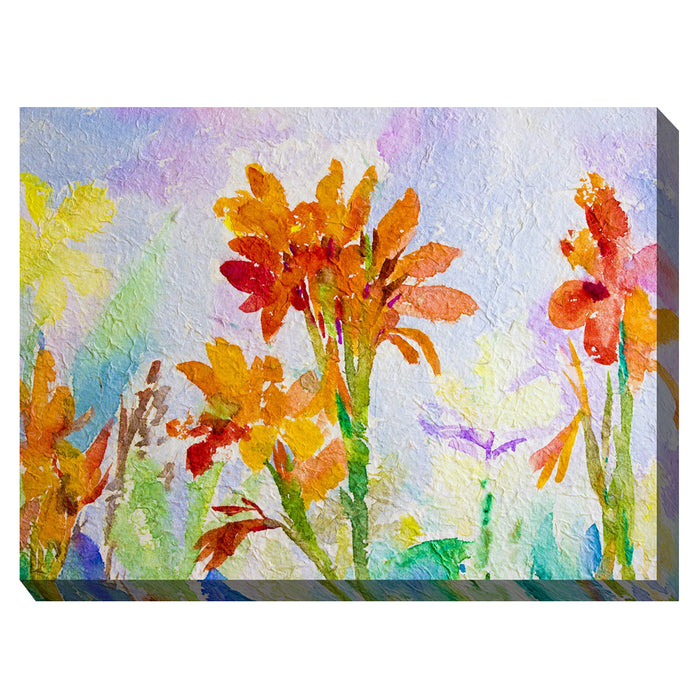 Canna Watercolor Outdoor Canvas Art - Soothing Company