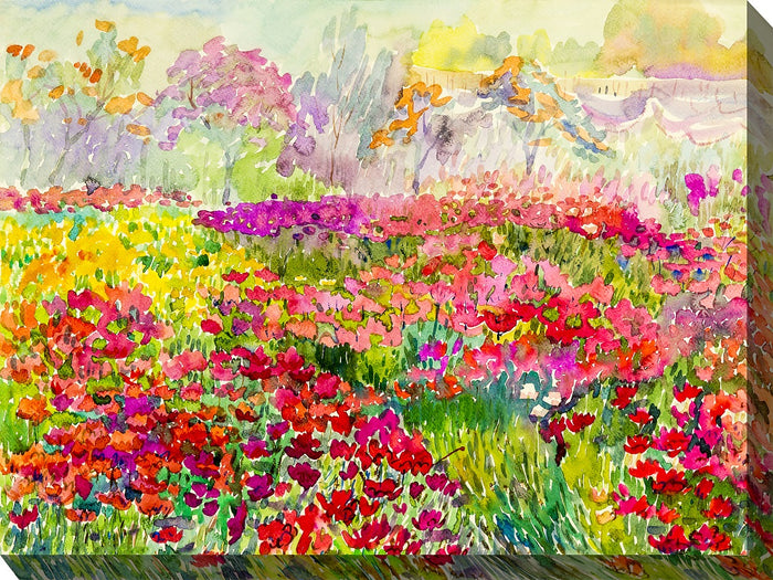 Field of Colors Outdoor Canvas Art - Soothing Company