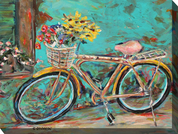 Teal Bicycle Outdoor Canvas Art - Soothing Company