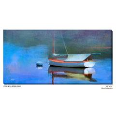 Blue Reflection Outdoor Canvas Art - Soothing Company