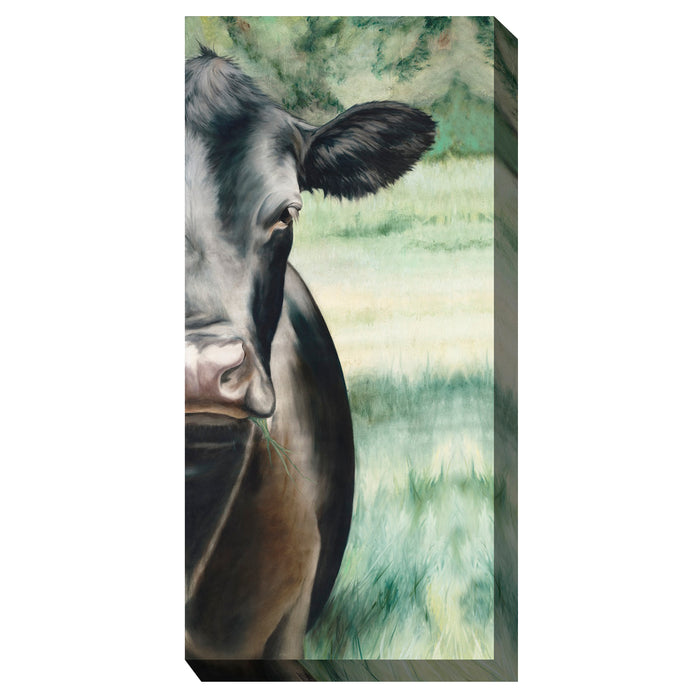 Black Betty Cow Outdoor Canvas Art - Soothing Company