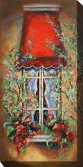 Red Canopy Outdoor Canvas Art - Soothing Company