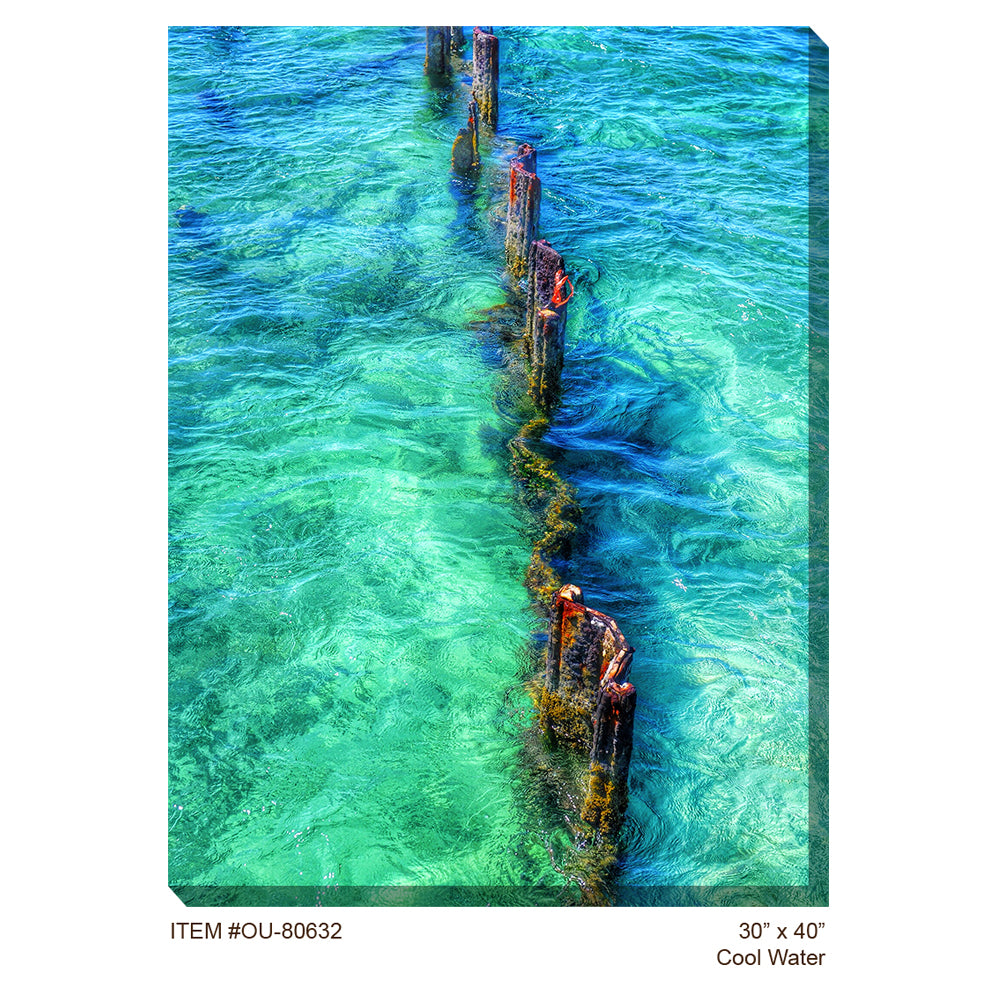 Cool Water Outdoor Canvas Art - Soothing Company