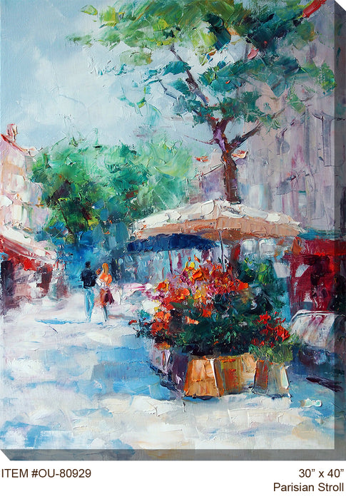 Parisian Stroll Outdoor Canvas Art - Soothing Company