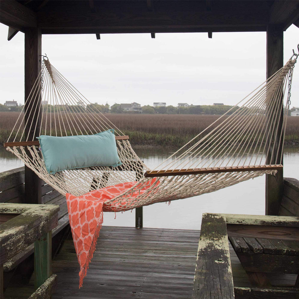 Pawleys Island Large Original DuraCord® Rope Hammock in Oatmeal - Soothing Company