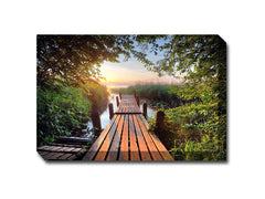 Old Dock Canvas Wall Art
